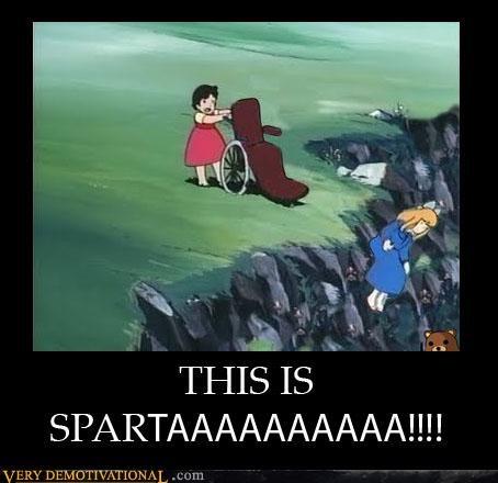 wheel chair,anime,sparta