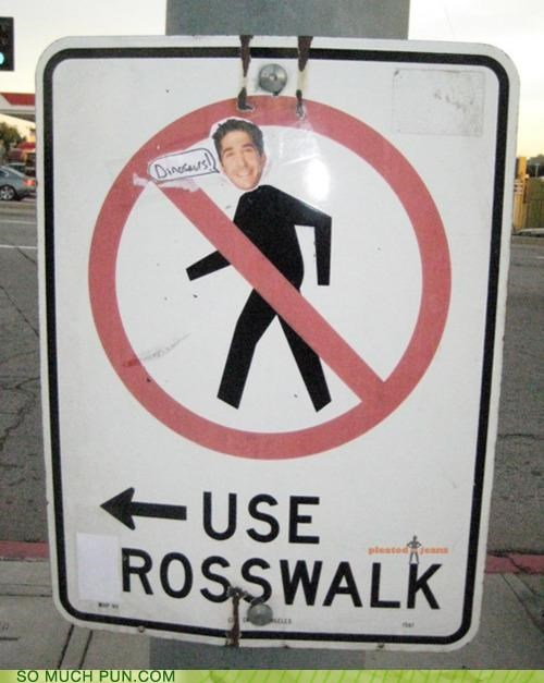 alteration,altering,characters,covering,crosswalk,friends,letters,ross,sign,TV,tv show,walk