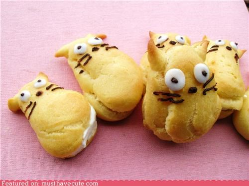 creampuffs,epicute,face,filling,pastry,totoro