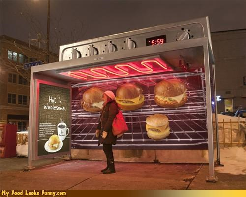 Funny Food Photos - Toaster Oven Bus Stop