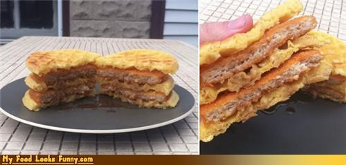 Funny Food Photos - Poor Man's Chicken and Waffles