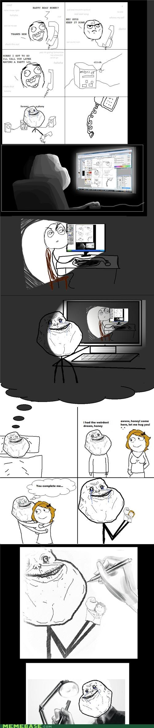 comics,dreams,forever alone,Inception,layers
