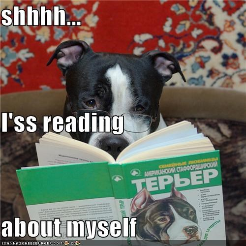 shhhh... I'ss reading  about myself
