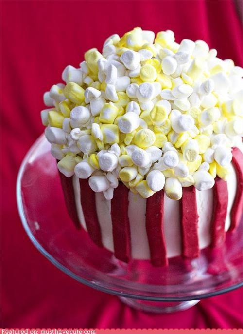 cake,epicute,fondant,marshmallows,Popcorn,stripes