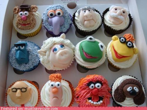cupckes,epicute,fondant,muppets,puppets,TV