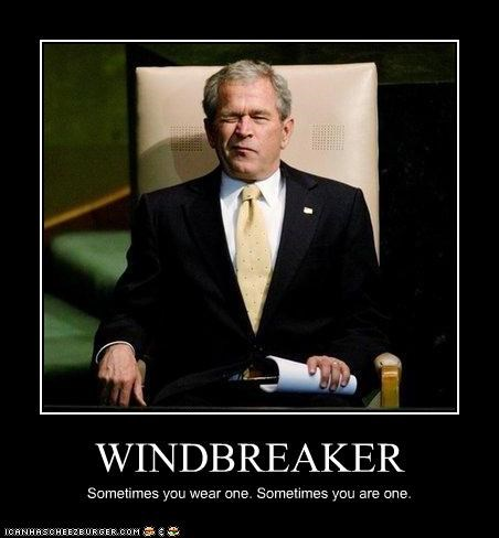 farting,farts,george w bush,gross,president,windbreaker,wink