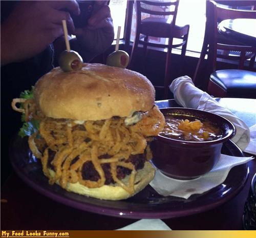 Funny Food Photos - Flying Spaghetti Burger