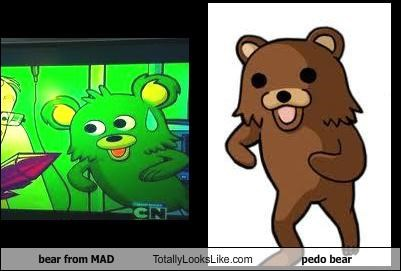 Bear From MAD Cartoon Totally Looks Like Pedobear