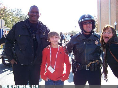 awesome,Bobcat Goldwaith,photobomb,police,police academy