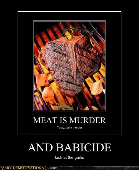 murder,garlic,babicide,meat