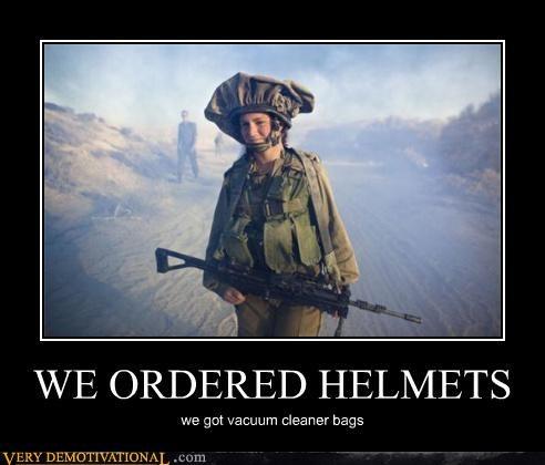 WE ORDERED HELMETS