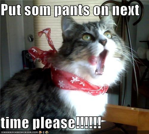 Put som pants on next  time please!!!!!!