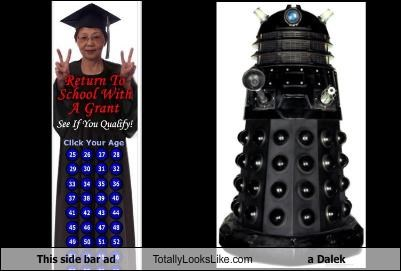 This side bar ad Totally Looks Like a Dalek