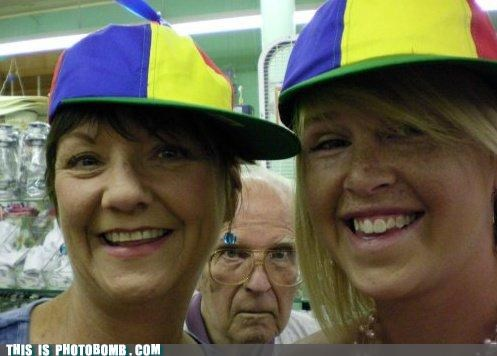 awesome,Grandpa,hats,old people,photobomb