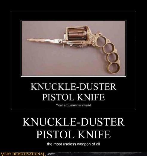 knuckle-duster,knife,pistol