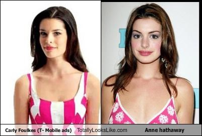 Carly foulkes t mobile ads totally looks like anne hathaway