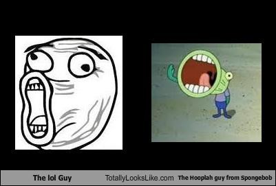 The lol Guy Totally Looks Like The Hooplah guy from Spongebob