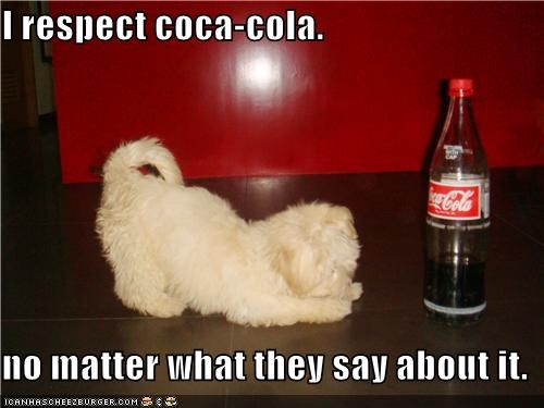 I respect coca-cola.  no matter what they say about it.