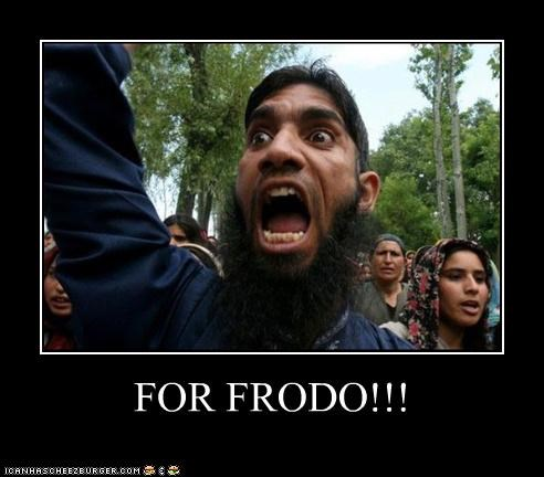 angry,beard,frodo,Lord of the Rings,protester,yelling