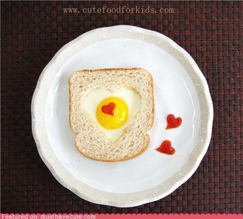 eggs,eggs in a basket,epicute,heart,love,toast