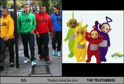 JLS Totally Looks Like THE TELETUBBIES