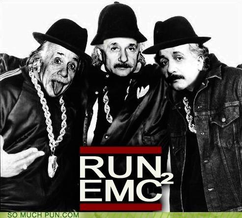 albert einstein,emc2,einstein,photoshop,relativity,Run DMC,single,theory of relativity,walk this way