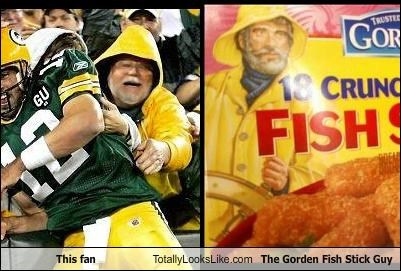 This fan Totally Looks Like The Gorden Fish Stick Guy