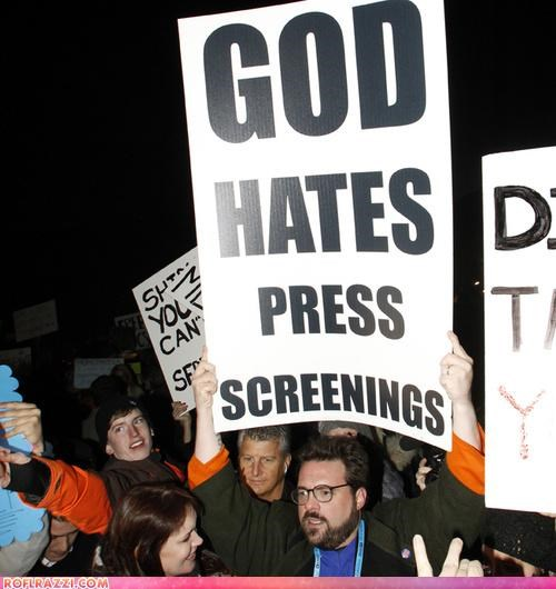 actor,celeb,director,funny,Hall of Fame,kevin smith,Protest