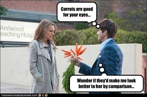 Carrots are good for your eyes...