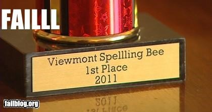 failboat,g rated,irony,spelling,spelling bee,trophy