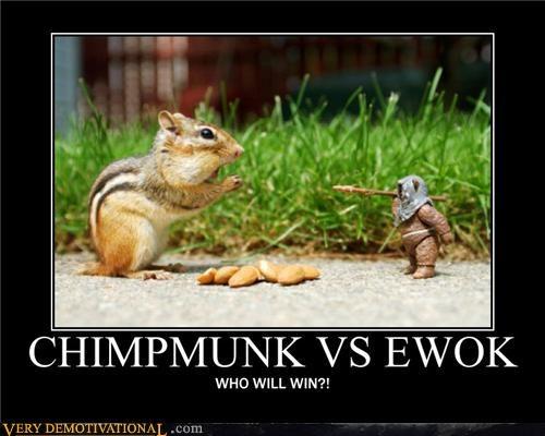 Chimpmunk vs Ewok