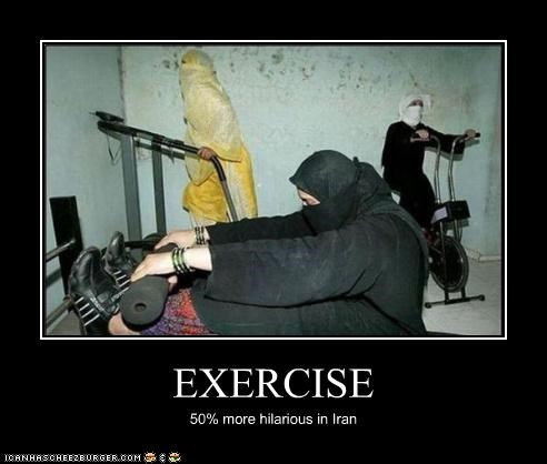 exercise,gym,hilarious,iran,muslim,women