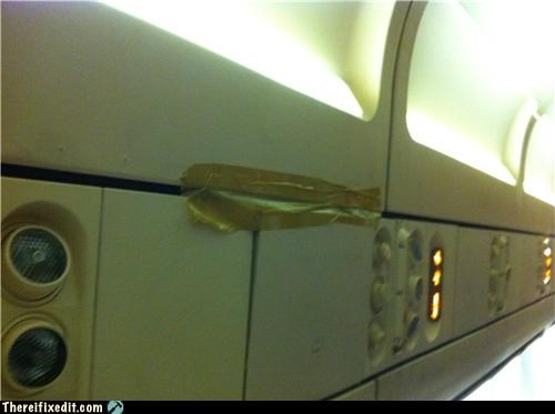 If Pressure Drops, The Flight Attendants Will Hand You Packing Tape