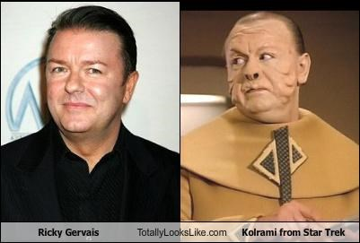 Ricky Gervais Totally Looks Like Kolrami from Star Trek