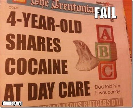 Probably Bad News: Cocaine Toddlers