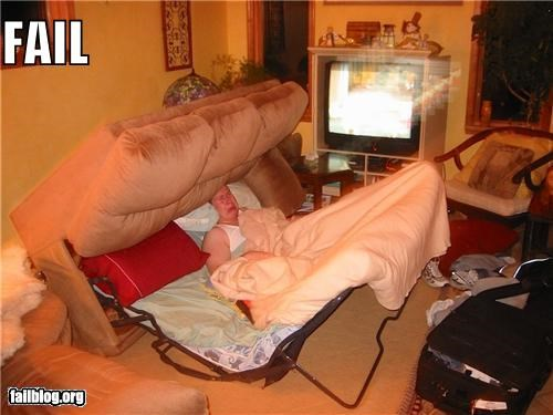 Pull Out Sofa FAIL