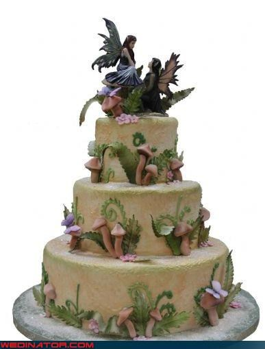 awesome wedding cake,bride,Dreamcake,fairy cake topper,fairy cake toppers,fairy nymph wedding cake,fantasy wedding cake,funny wedding photos,groom,moldly wedding cake,mushroom wedding cake,themed wedding cake,Wedding Themes,wtf