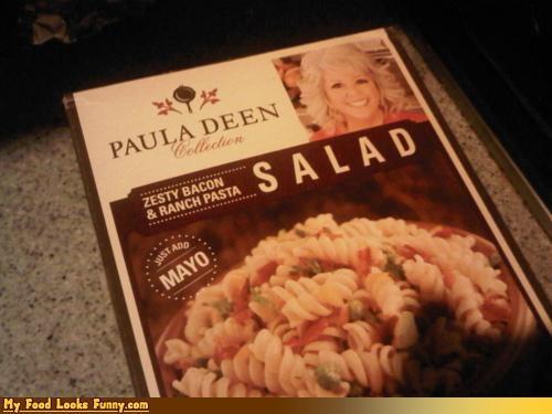 bacon,mayo,pasta,pasta salad,paula deen,ranch,salad,sides,zesty-bacon-ranch-pasta-salad