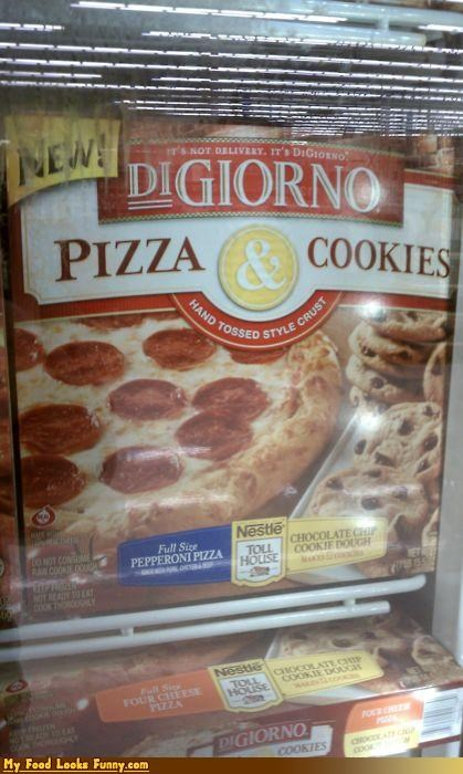 Funny Food Photos - Pizza and Cookies in One Box