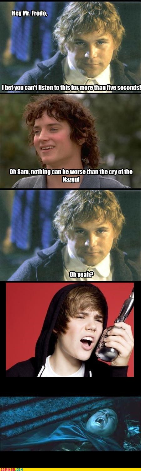 frodo,From the Movies,justin bieber,Lord of the Rings,samwise