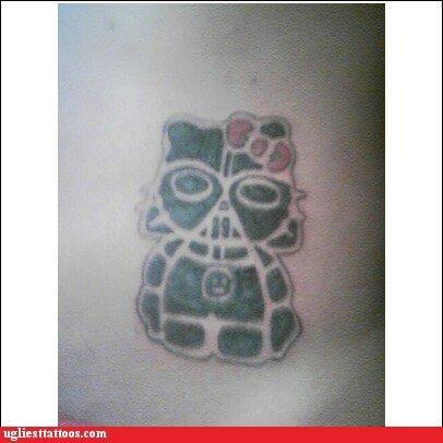 tattoos,hello kitty,funny,darth vader