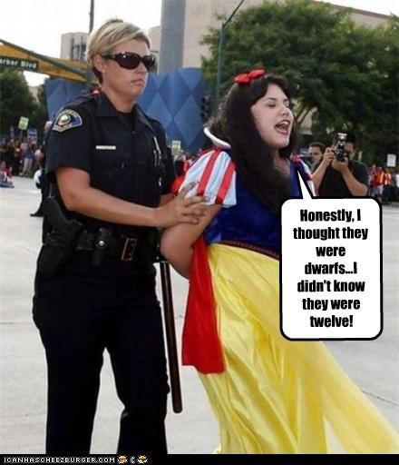 arrest,dwarves,police,sex,snow white,underage
