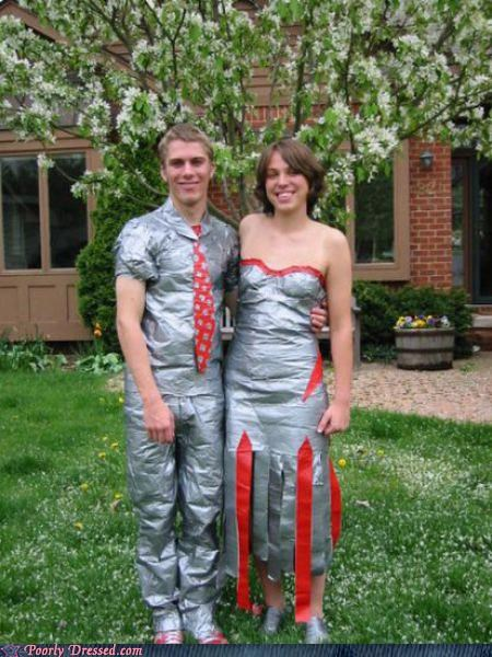 Nice Day For A Duck Tape Wedding