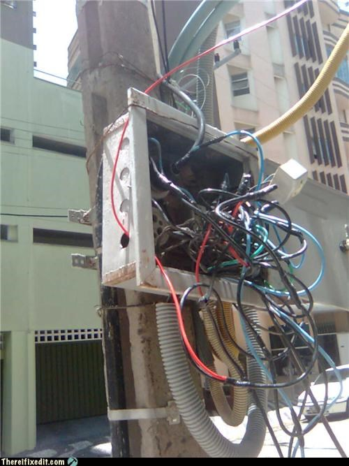 electrical fire,Professional At Work,safety hazard,wires