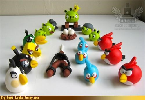 Edible Angry Bird Cake Toppers