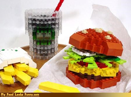 burger,drink,fast food,fries,lego,meal