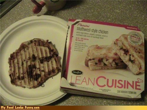 false advertising,frozen,lean cuisine,panini,sandwich
