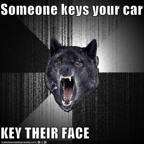 Insanity Wolf: Someone Keys Your Car