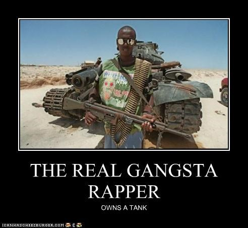 THE REAL GANGSTA RAPPER