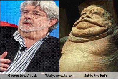 George Lucas' neck Totally Looks Like Jabba the Hut's